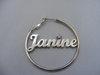 Namensohrring 'Standard' - Janine
